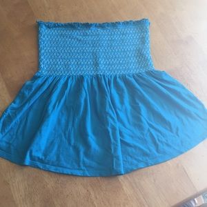 Old navy smock top beautiful turquoise blue med
